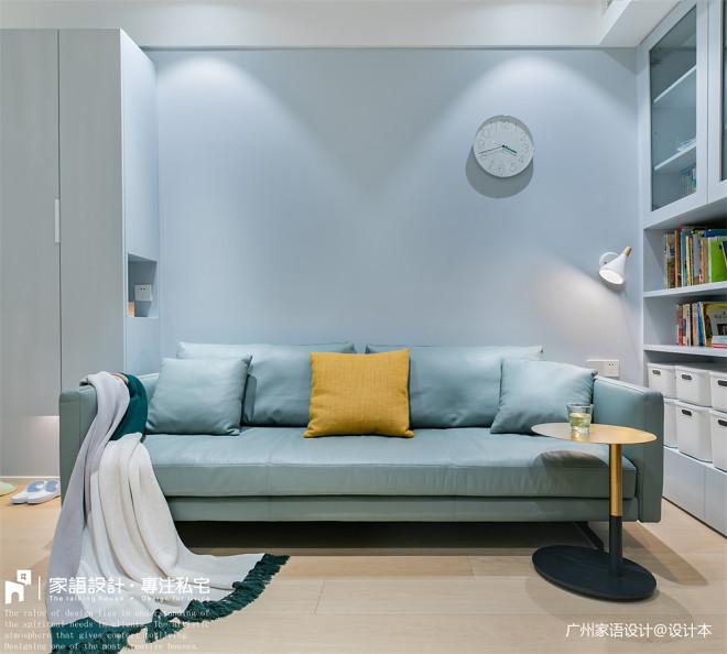 71㎡旧房改造:用这抹蓝调打造舒适的