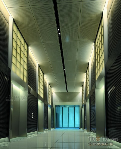 人保公司北京分公司办公楼-电梯间.j