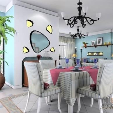 地中海风格餐厅装修效果图大全2012图片