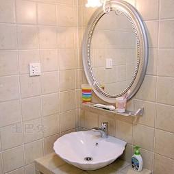 复式楼砖砌洗手台装修效果图