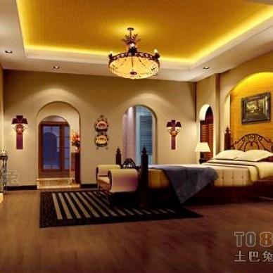 西班牙风格别墅主卧室