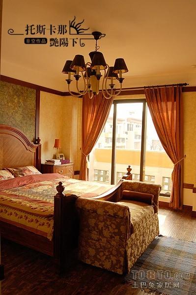 后现代窗帘效果图_混搭风格棕色窗帘80后家居成人卧室装修效果图片 – 设计本装修 ...