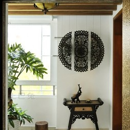 2017东南亚风格四居室进门家居最新经典玄关装饰桌装修效果图片