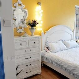 地中海风格白色梳妆台80后婚房卧室装修效果图片
