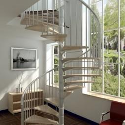 中式个性螺旋楼梯效果图