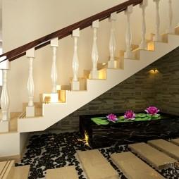 楼梯底小景