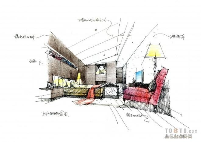 E户型样板房主卧室效果图