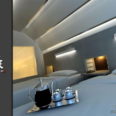 472F-3F套房超现代卧室细节倾斜角度