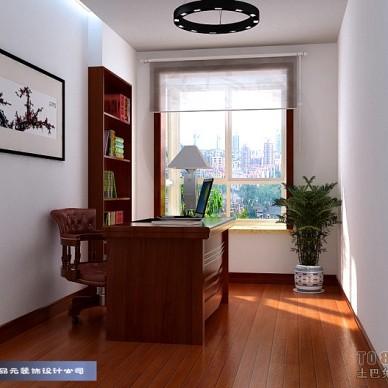 书房实木窗设计效果图