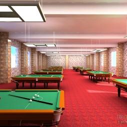 桌球室二楼贵宾区