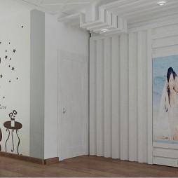 厕所门和餐厅墙效果图