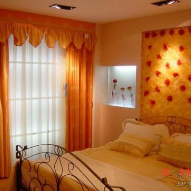 橙色窗帘背景图片