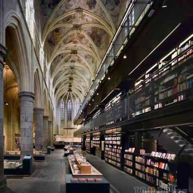 潮流旧书店铺吊顶设计图