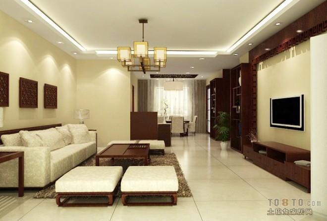 中式家装客厅装修案例图