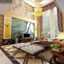 欧式古典客厅233106