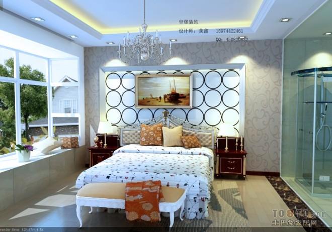 欧式现代卧室244716