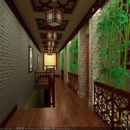 茶楼走廊2楼