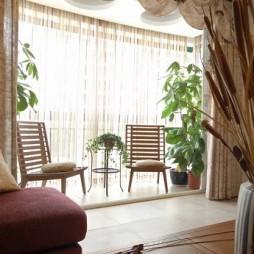 三居室东南亚阳台装修效果图