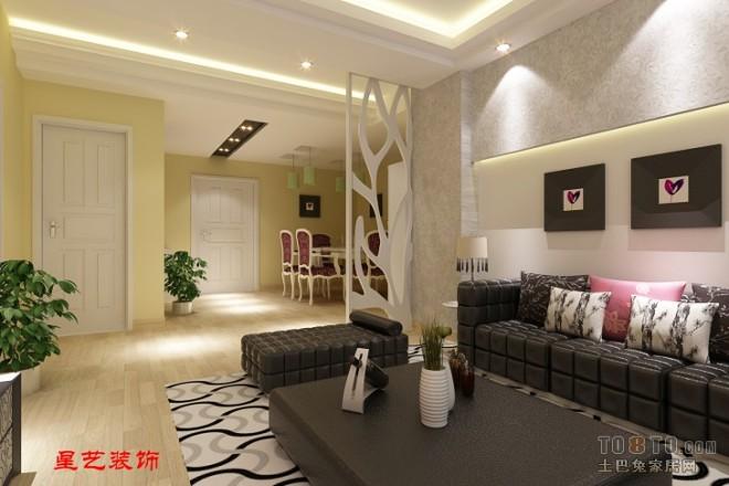 沙发背景墙及餐厅