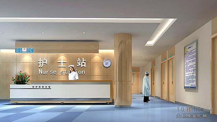 医院护士墙图片_平山医院护士站 – 设计本装修效果图