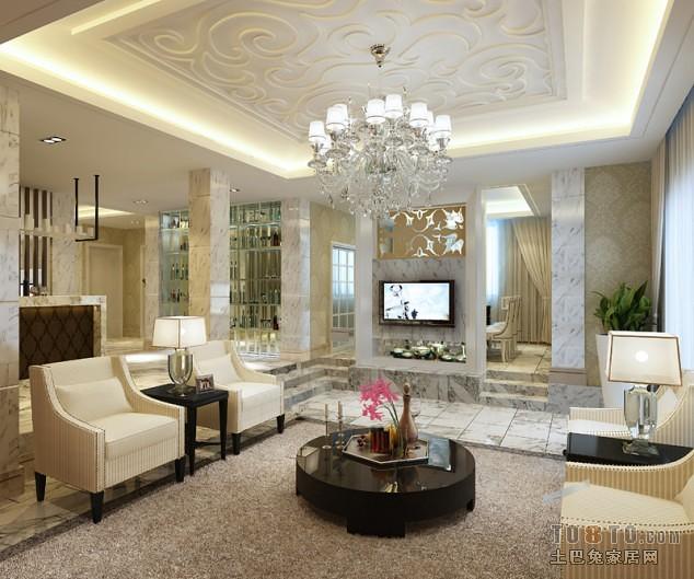 客厅实景模拟图