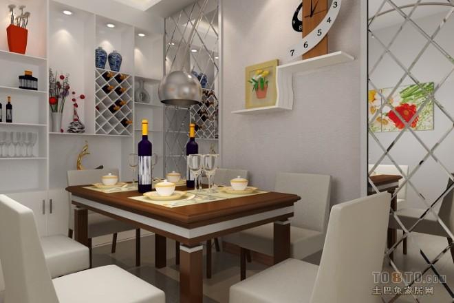 现代风格餐厅装修效果图大全2012图