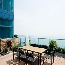 欧式风格露天观景休闲绿化阳台装修设计效果图