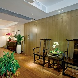 家装简约客厅过道玄关休闲椅装修效果图