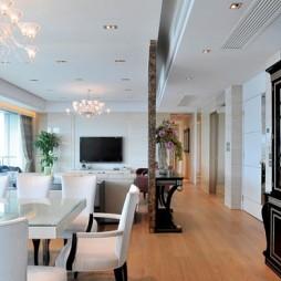 现代风格客厅餐厅吊顶装修效果图