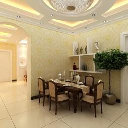 欧式现代餐厅装修效果图大全2012图片