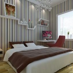 现代简约卧室装修效果图大全2012图片