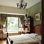 2017美式乡村风格三居室宜家儿童房窗台装修效果图片