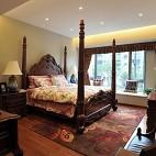 2017美式风格简单家居老人房卧室飘窗装修效果图片