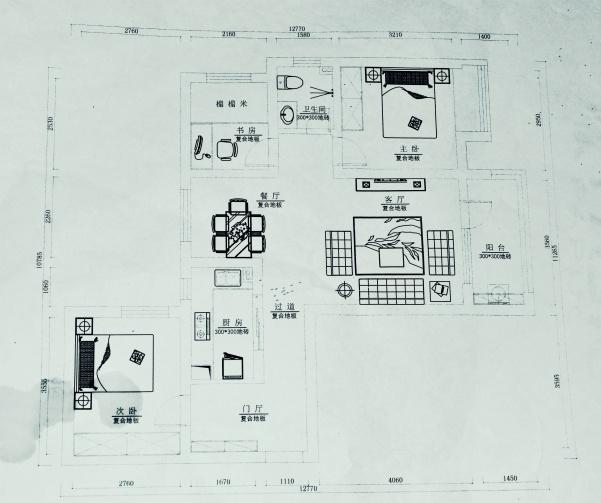 这样的三室两厅该如何设计?