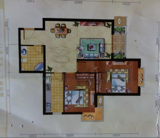 室内81平,无多余的窗,阳台窄,无法改为住房,请大神们帮忙,是否可改一个均有独立房间的三居?