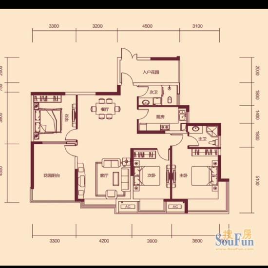 我的户型建筑面积有145,套内面积只有113了,关键是还不是南北通透,主卧朝东向,采光基本上是南面,阳台基本上是一间房大了,不知道怎么用,大家可以帮我看下,这个户型怎么设计好?这个户型应该不好?