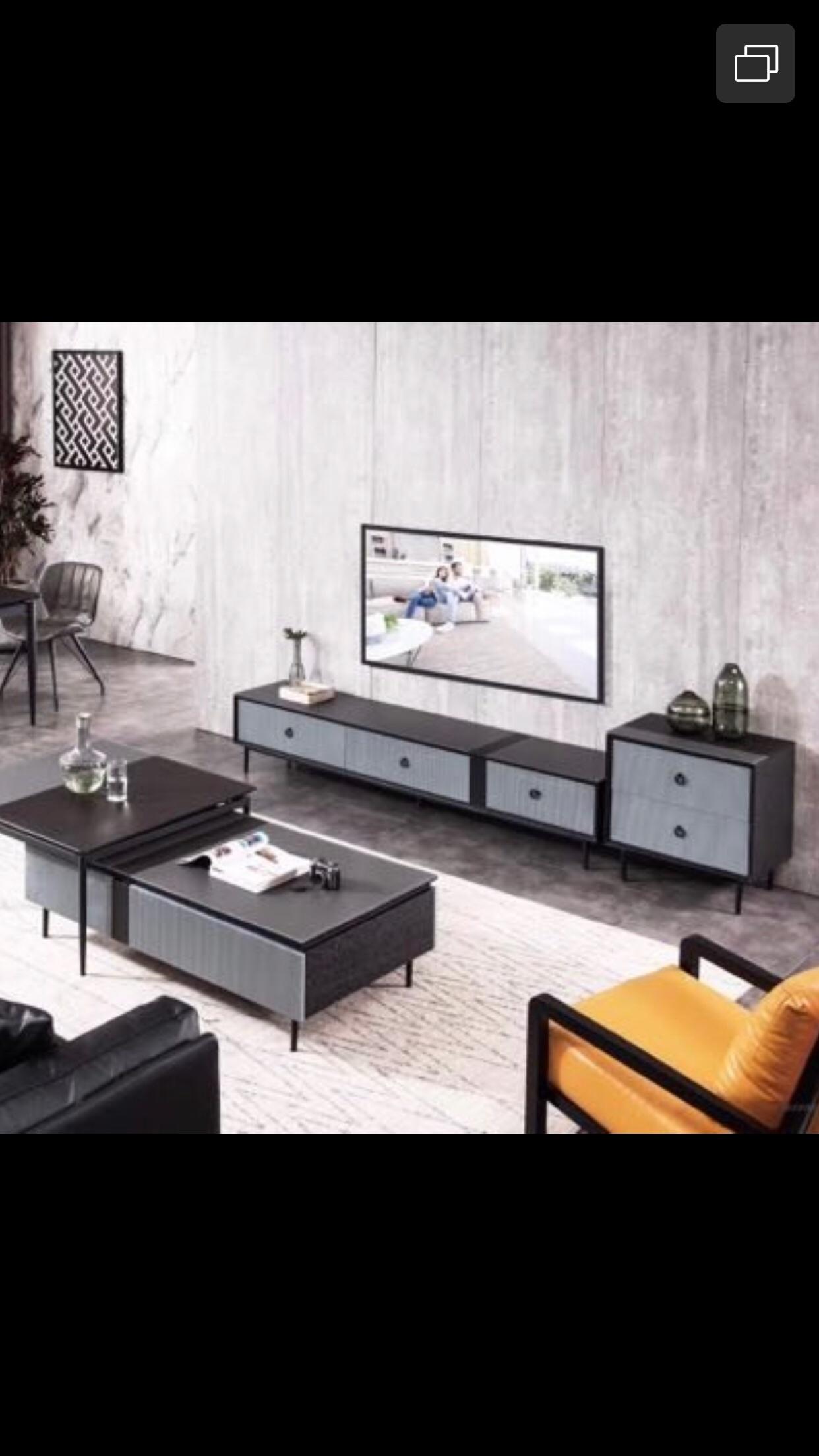 这套电视柜配什么颜色的背景墙比较有特色?