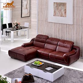 陆虎品牌家具顶光中厚皮真皮沙发 组合客厅顶级黄牛厚皮别墅沙发
