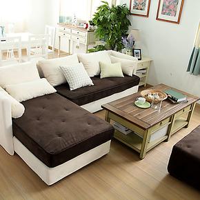图勒田园风布艺沙发组合现代/地中海/宜家简约/客厅中小户型沙发