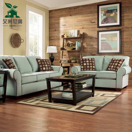 艾米尼奥家具 美式乡村布艺沙发 地中海客厅沙发组合 可三包到家