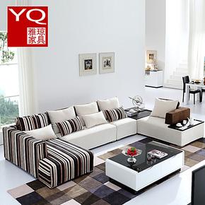 雅琼 布艺沙发组合现代客厅高档布艺沙发U型沙发大户型 布艺沙发