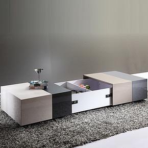 小户型 简约现代 可伸缩烤漆创意长方形储物个性 客厅茶几 205#