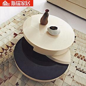 360°旋转茶几客厅家具北欧现代简约钢化玻璃烤漆可升降茶几包邮