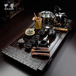 甲馨 茶具套装特价 正品宜兴紫砂茶具 电磁炉功夫茶具 黑檀木茶盘