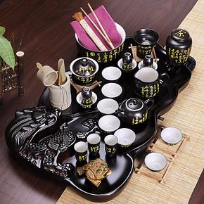 康乐品 陶瓷功夫茶具套装 实木茶盘 茶道整套茶具套装特价
