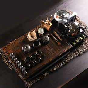 有茗器 茶具套装特价包邮 紫砂茶具 功夫茶具整套 电磁炉实木茶盘