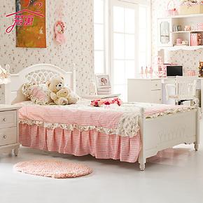 爱寓韩式田园床实木床儿童床公主床单人双人床男孩1.2米1.5米特价