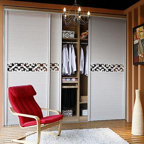 施尔福 热销白色整体衣柜 推拉门衣柜 宜家移门衣柜 现货包物流