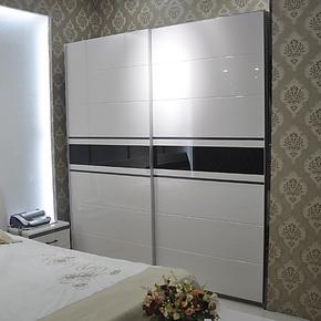 施尔福 量身定制宜家钢琴烤漆衣橱 移门衣柜 整体推拉门 大衣柜