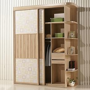 宜家逸居 包邮整体移门衣柜 转角入墙衣柜 异型定制板式家具2026